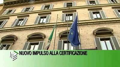 Nuovo impulso alla certificazione